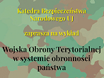 miniatura Territorial Defense Forces in the state's defense system - lecture